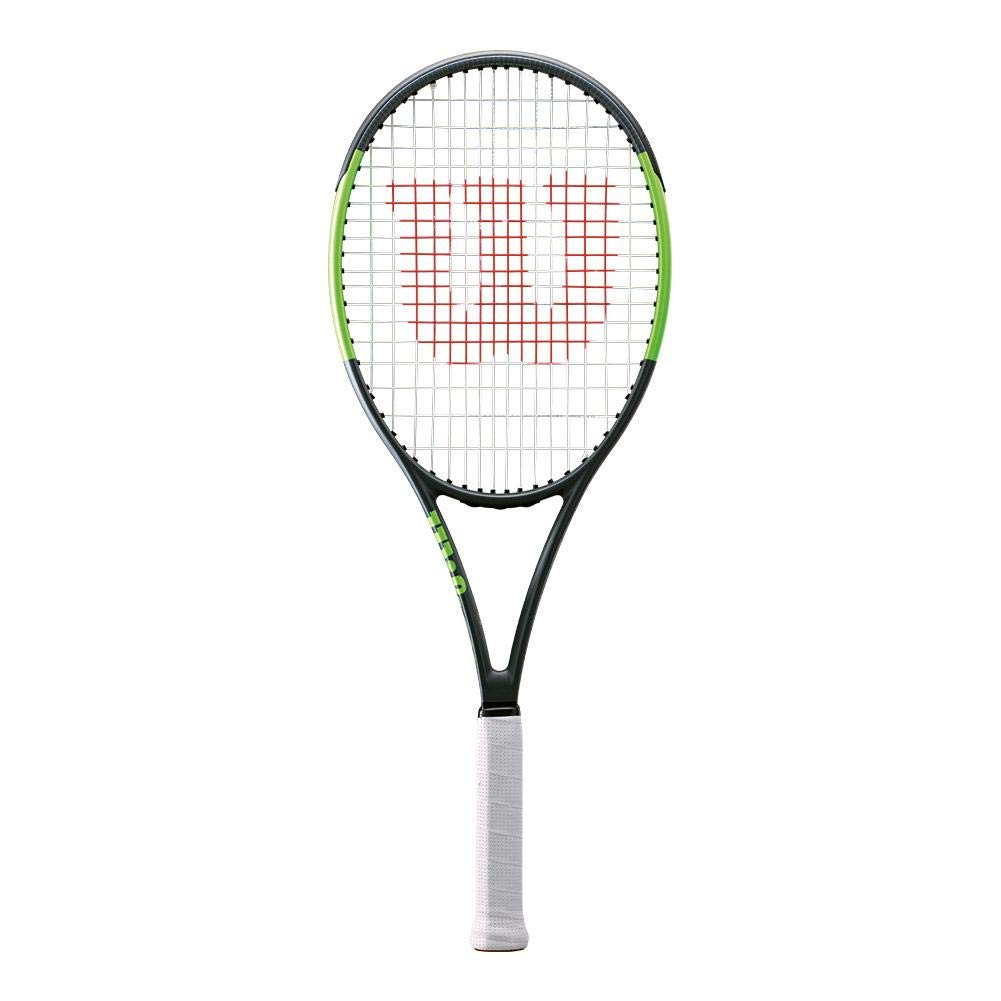 Wilson Blade Team 99 Black Green Entry Level Performance Tennis Racquet Strung with Custom Colors Best Racket for Spin and Power