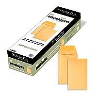 Moneda Nº 1 y sobre de piezas pequeñas con solapa engomada para uso en el hogar o la oficina, 28 lb. Brown Kraft, 2-1 /4 x 3-1 /2, 500 por caja (50162)