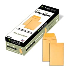 Made from heavyweight 28-lb. stock for durability. Works great for home, office, interoffice, or mailing. Gummed flap provides a secure seal.