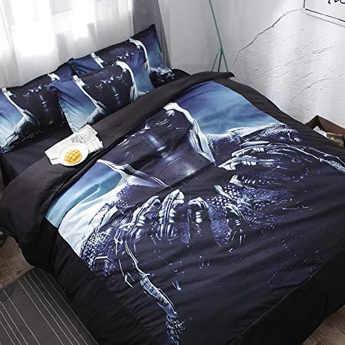 Hllhpc Juego de Cama para el Dormitorio de Cuatro sábanas de Lija ...