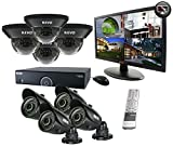 REVO America R165D4GB4GM21-2T 16 Channel 2TB 960H DVR Surveillance System with 8 700TVL 100-Feet Night Vision Cameras and 21.5-Inch Monitor (Black) For Sale