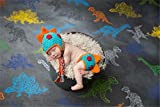 SIKEMAI Newborn Photography Props Outfits - Baby Boy/Girl Knitted Hat Pants Dinosaur Costume Set