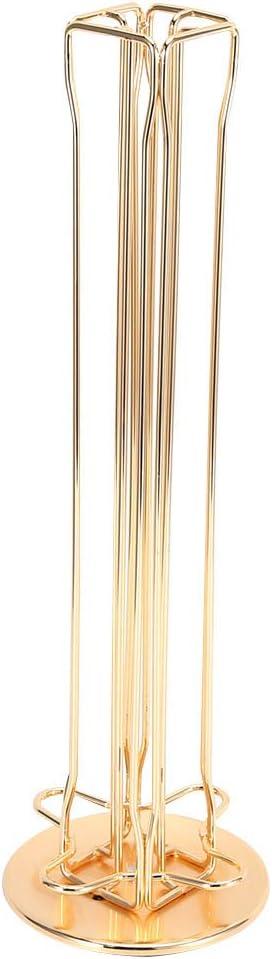 Gold 36.7 x 11 x 5 cm EBTOOLS Kapselhalter f/ür 40 Nespresso Kapseln Drehbar Kapselspender Kapselst/änder Kaffeekapseln Veranstalter f/ür die K/üche