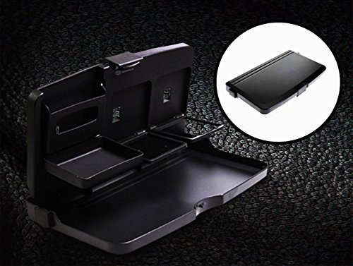 Zone Tech Black Car Food Snack Tray Drink Meal Tray for Car