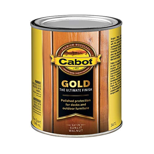 (Cabot/Valspar Corp 3471-05 Sun 1 Quart Sunlit Walnut Wood Finish,)