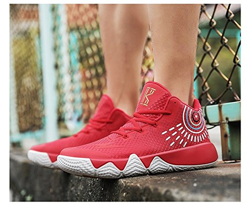 Men's Basketball Red Sneakers by Shoes Athletic Breathable Fashion JiYe Running Sports gTwpdqnq