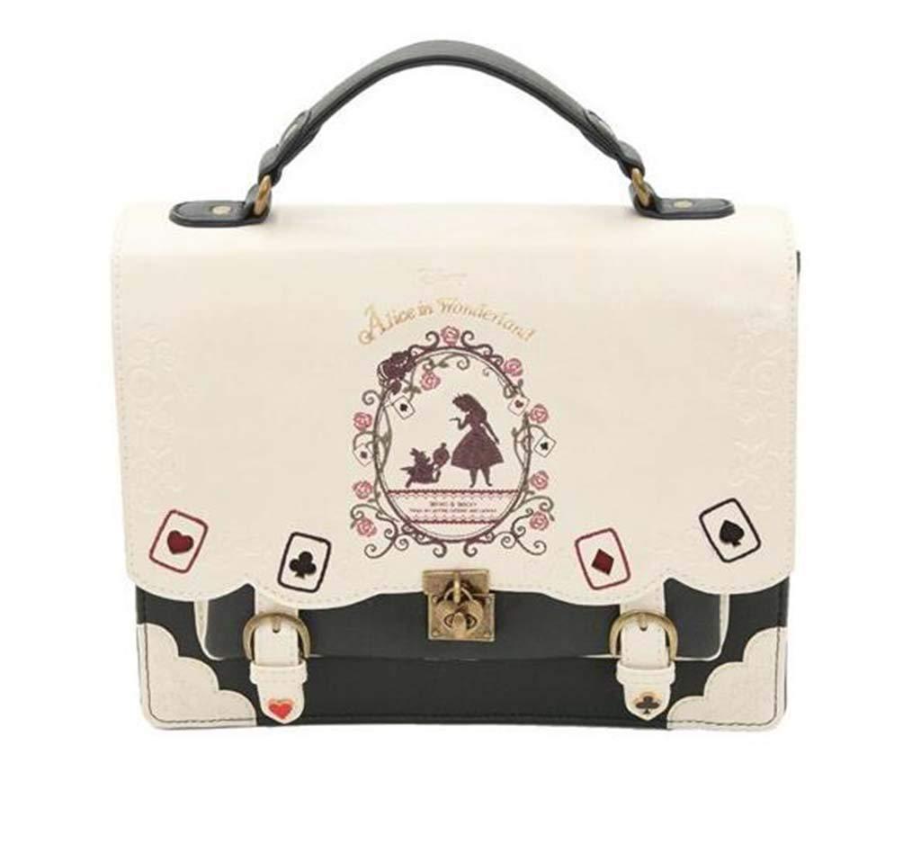 MYYDD Womens Bag Alice in Wonderland Poker Cards Lolita Bag Backpack Womens Cross-body bag Small Square Bag Womens Handbags,Blue