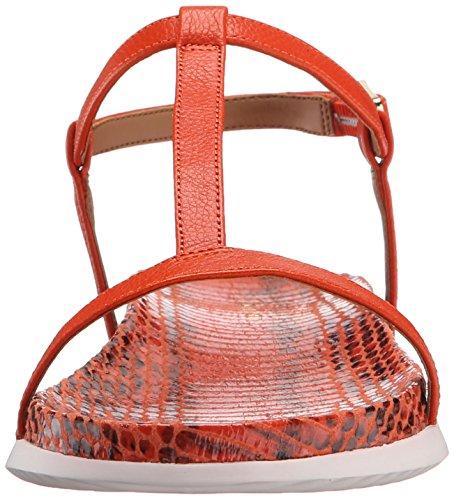 Klein Doma Laquer Orange Flat Calvin Sandal HTAwfBnwq