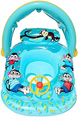Artistic9 Barco flotador, para bebé, para niños, hinchable para ...