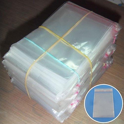 200pcs Sac de plastique Transparent Autocollant Seal Fit Cadeau Bijoux Emballage de sac