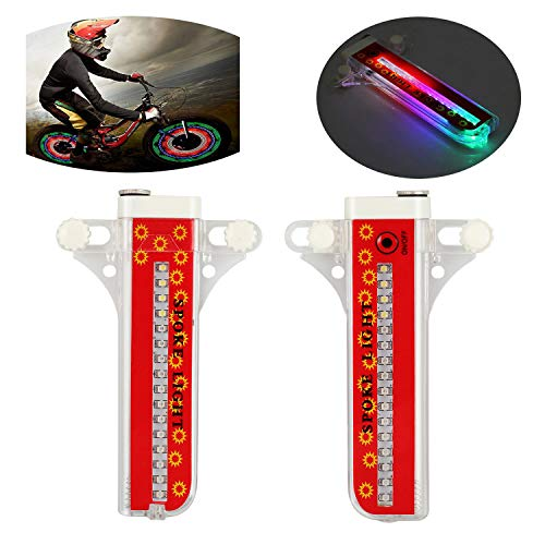 - TH-OUTSE 2PCS 32 LED Patterns Cycling Bikes Bicycle Rainbow Wheel Signal Tire Spoke Light