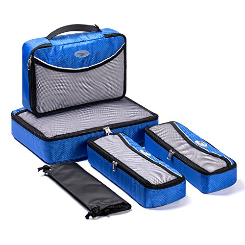 Soho Cube - SOHO Diaper Bag Baby Packing Cubes Travel Organizers Extensible Storage Mesh Bags Organizers (Galaxy Blue)