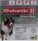 K9  Advantix II, Large Dogs, 21 to 55-Pound, 4-Month