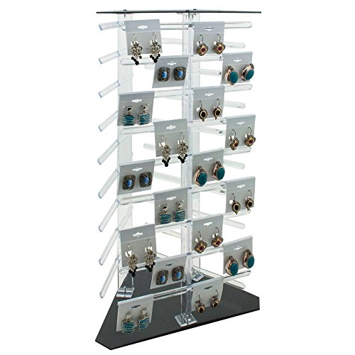 - Clear Plastic Rotating Jewelry Earring Card Display Holder ~ Holds 108 Cards