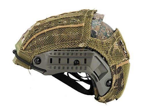 - DLP Tactical Helmet Cover for AirFrame and Similar Combat Helmets (Multicam)