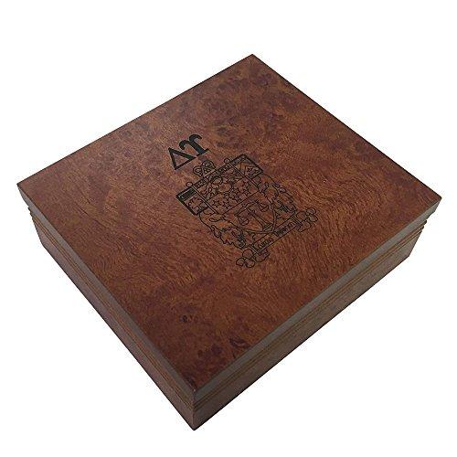 Delta Upsilon Fraternity Wood Pin Box Marble Effect Elegantly Engraved Greek Letter DU
