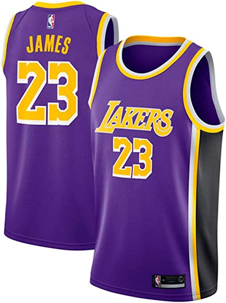 MTBD NBA Lebron James, NO.23 Lakers Retro, Camiseta de Jugador de Básquetbol, Bordado Transpirable y Resistente al Desgaste Camiseta de Fan de Hombres: Amazon.es: Deportes y aire libre