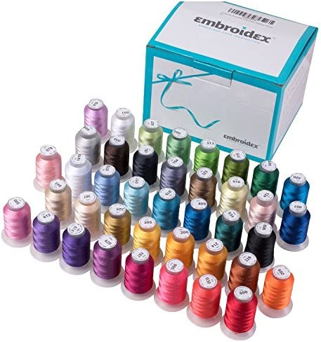 Sewing Machine Thread 40 Spools Polyester Embroidery Set Bright Beautiful Colors