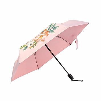 Automático De Paraguas Plegable Paraguas Plegable - Tres Paraguas Automático Abierto Doble Sol Viento Sol Paraguas