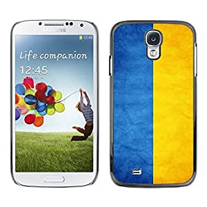 LJF phone case Shell-Star ( National Flag Series-Ukraine ) Snap On Hard Protective Case For Samsung Galaxy S4 IV (I9500 / I9505 / I9505G) / SGH-i337