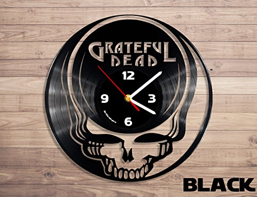 Grateful Dead rock band vinyl record wall clock