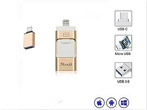 Memory Stick de Memoria USB 4 en 1 de 32 GB con Tipo-C