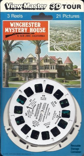 Winchester Mystery House & San Jose California 3d View-Master 3 Reel Set