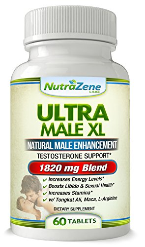 Natural Testosterone Booster & Natural Male Enhancement – W/ Tongkat Ali, Pure Maca Root, L-Arginine + Blend of Herbs, Barks & Roots to Increase Energy, Libido, Sexual Health & Stamina- 60ct - L-arginine Sexual Health