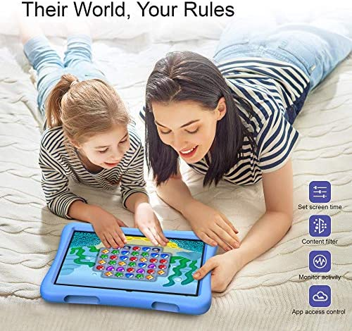 """VANKYO MatrixPad S10 Kids Tablet 10 Inch, 2 GB RAM, 32 GB Storage, Kidoz Pre Installed, 10.1"""" IPS HD Display, Android OS, WiFi Tablet, Blue Kid-Proof Case"""