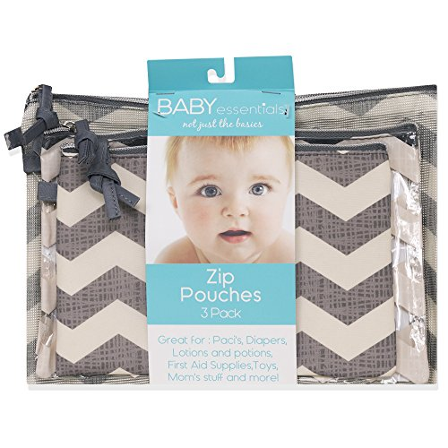 Baby Essentials 3 Piece Chevron Pouches Diaper Pouch