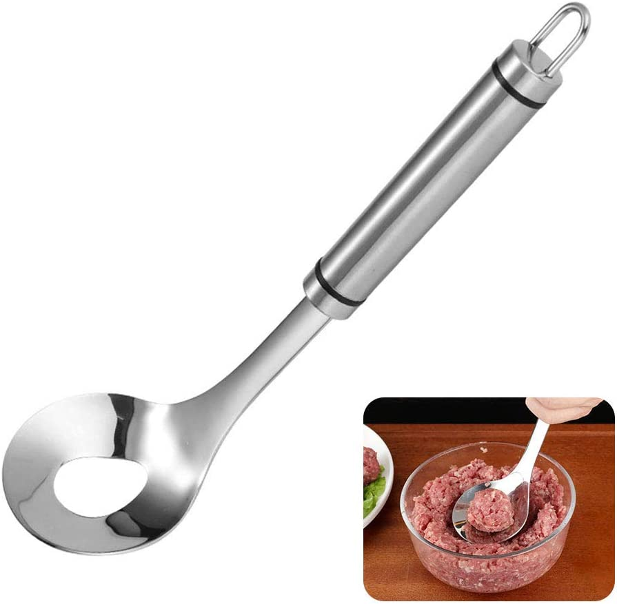 Handheld Stainless Steel Non Stick Meatball Spoon Making Tool