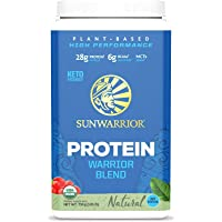 Sunwarrior Warrior Blend, Organic Vegan Protein Powder with BCAAs and Pea Protein (Natural, 30 Servings)
