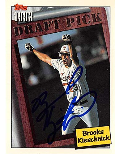 Brooks Kieschnick autographed baseball card 1993 Topps #205 Draft Pick (University of Texas Longhorns Cubs)