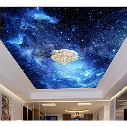 Pbldb Ceiling Sticker 3D Ceiling Sky Custom 3D Ceiling Murals Wallpaper Non-Woven Ktv Ceiling Roll-250X175Cm