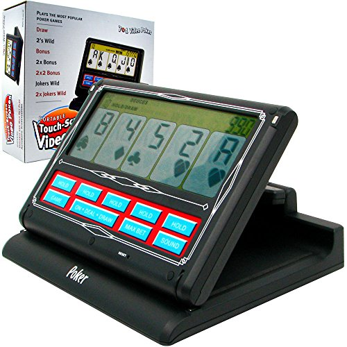 Casino Electronic Draw Poker (Trademark Poker Portable Video Poker Touch-Screen 7 In 1 - Black & White Game)