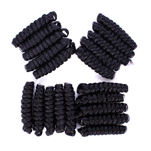 Furice Short Curlkalon Crochet Hair Spiral Curly Tapered Cut Natural Hair Ombre Bouncy Curl Twist Hair Synthetic Hair African Collection Crochet Braids 20Strands/Pack(Toni 10inch (Toni Twist)