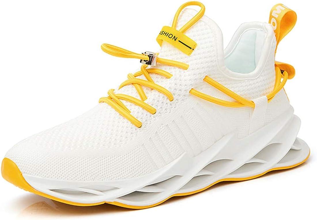 Damyuan Zapatos Deportivos de Malla Tejida con Mosca Zapatos de Senderismo Transpirables de Moda Zapatillas de Deporte Casuales Hombres Zapatillas de Deporte cómodas