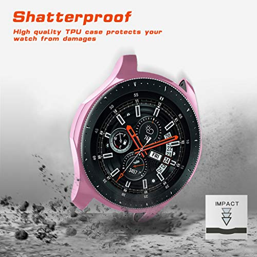 Huangou ❤❤ Smart Watch TPU Cover ❤ Ultra-Thin TPU Plating Protection Case Cover for Samsung Galaxy Watch 46mm (Pink, Free) by Huangou (Image #5)