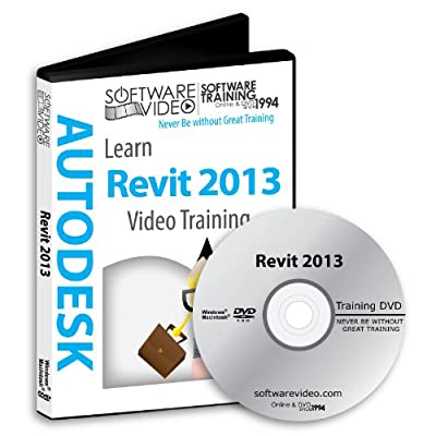 Software Video Learn AUTODESK REVIT Architecture 2013 Training DVD Sale 50% Off training video tutorials DVD Over 14 Hours of Video Training