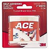 3M 207460 ACE Brand Self-Adhering Elastic Bandage, 2'' Width, Beige