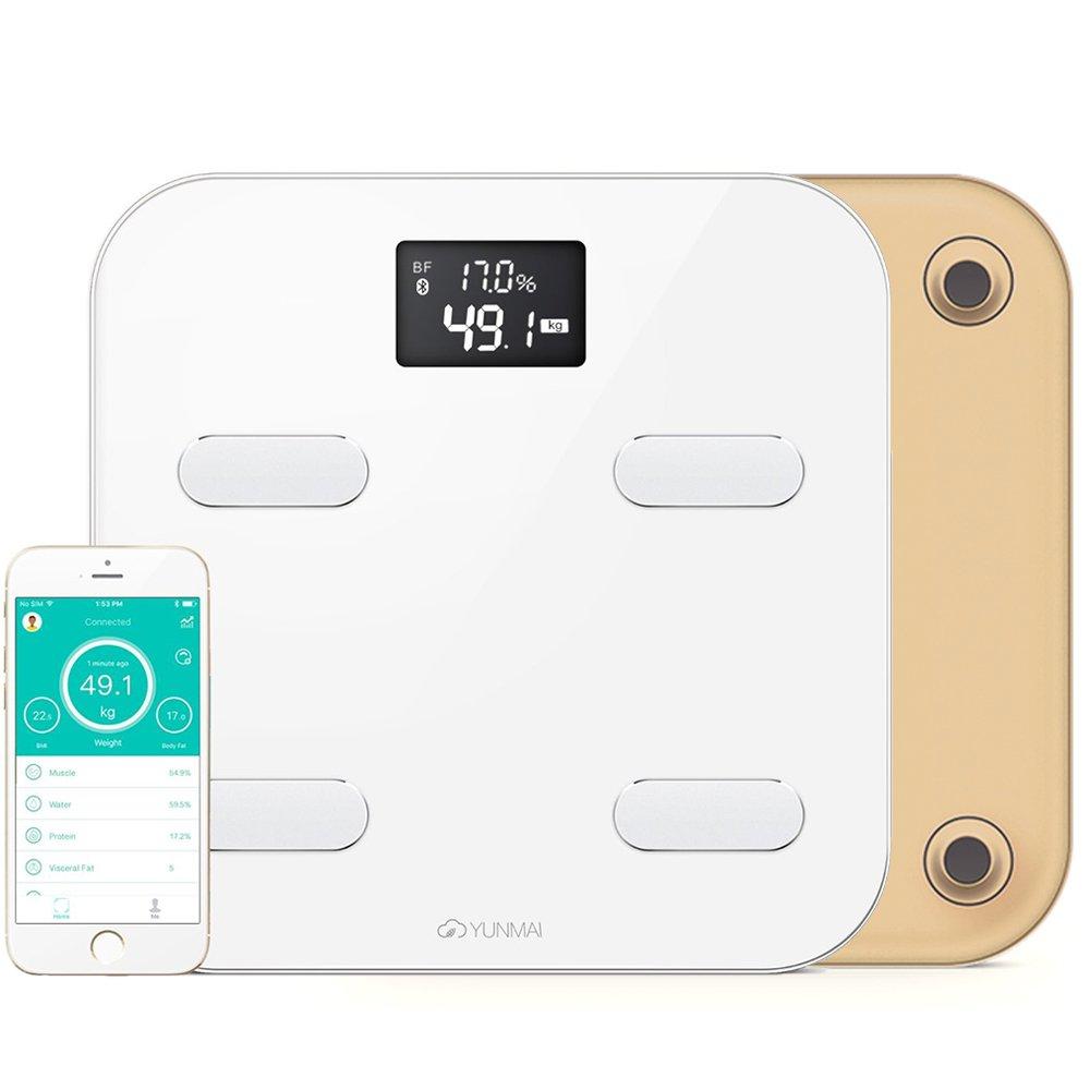 yunmai – Báscula de baño inteligente con Bluetooth y con 10 análisis de la Composición Corporal (Inc. Grasa Corporal), dorado: Amazon.es: Deportes y aire ...