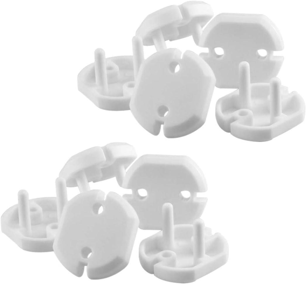 blanco Cubre Enchufes Norma Europea 6piezas Kit Seguridad para Bebe Tapa Enchufes para Ni/ños YOFASEN Blanco Protectores Enchufes