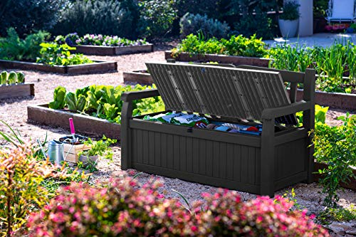 Storage bench for patio furniture