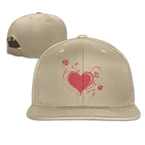 Yishuo Mens Fancy Heart Mugs And Totes Fashion Basketball Natural Hat Adjustable Snapback -