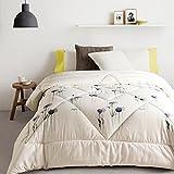 bed/bedding Warmth Full/Queen/Full/Twin Size Comforter Duvet Insert,Hypoallergenic Box Stitched,Velvet Cotton Thickening Printing duvet Core,Lavender,1.5×200cm (2.2Kg)