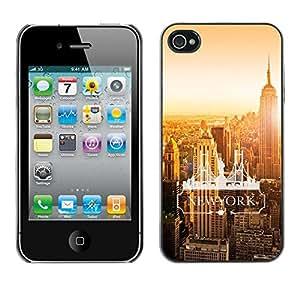 GIFT CHOICE / Teléfono Estuche protector Duro Cáscara Funda Cubierta Caso / Hard Case for iPhone 4 / 4S // New York City Word Art //
