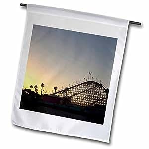 Danita Delimont - California - California, Santa Cruz, Santa Cruz Carnival - US05 RCA0088 - Rob Casey - 18 x 27 inch Garden Flag (fl_88588_2)