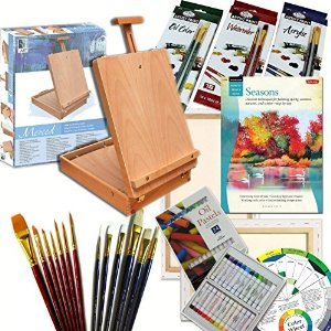 Artist Quality Full Size Table Easel Art Set Complete All Media Painting Supplies & More by French Easels