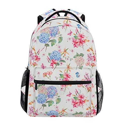 (Nice Looking Hydrangea Large Travel Outdoor Sports Laptop Backpack Water Resistant for Women & Men College School)
