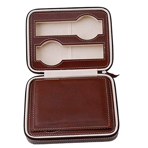 Box For - 4 8 Holes Brown Portable Zipper Watch Bag Luxury Box Travel Packing Storage Ko973497 - Bracelet Christmas Keepsakes Chocolate Sandwich Accessories Exercise Diorama Yogurt Wallet Sh